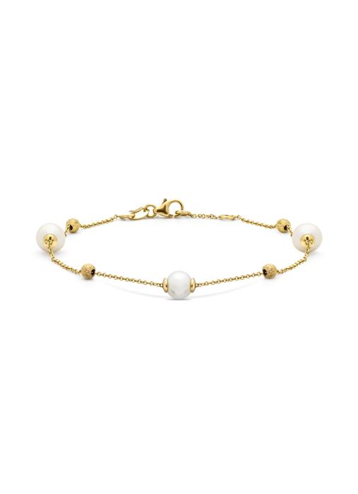 Diamond Point Geelgouden armband Rivièra