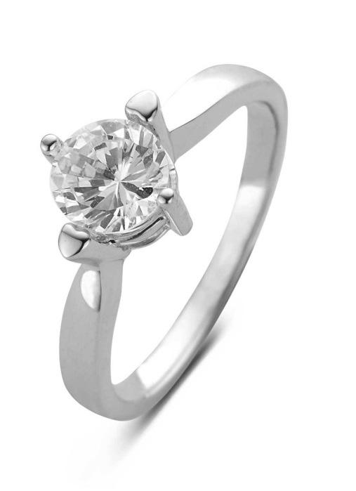 Diamond Point Witgouden ring, 1.01 ct diamant, Hearts & Arrows
