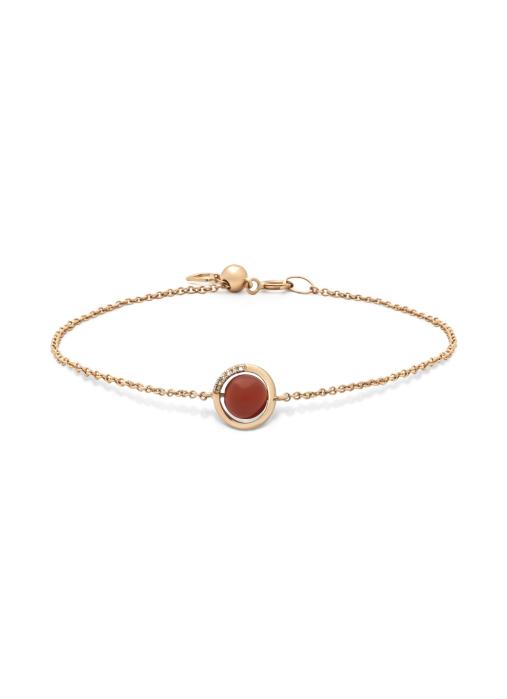 Diamond Point Roségouden armband, 1.57 ct agaat, Earth