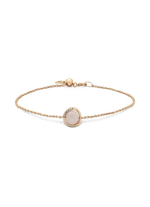 Diamond Point Roségouden armband, 1.72 ct roze kwarts, Earth