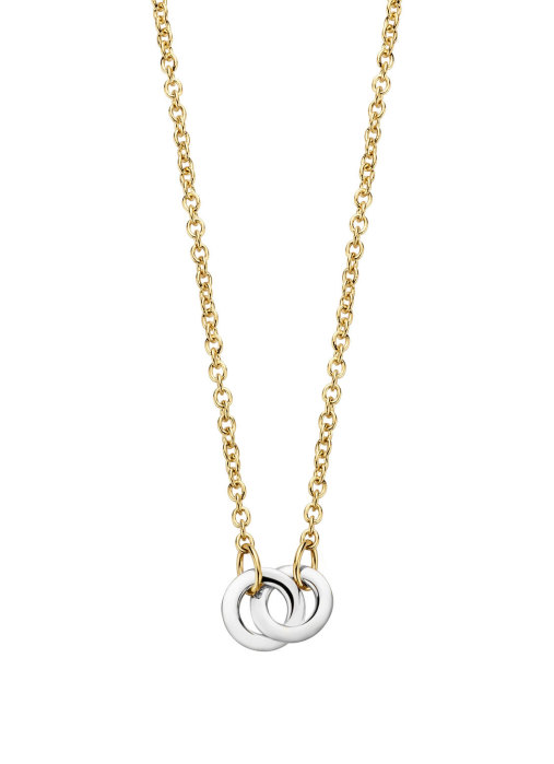 Diamond Point Infinity necklace in 14 karat yellow and whitegold
