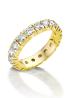 Diamond Point Groeibriljant eternity ring in 18 karat yellow gold, 1.10 ct.