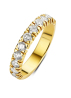 Diamond Point Groeibriljant eternity ring in 18 karat yellow gold, 0.77 ct.