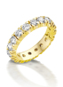 Diamond Point Groeibriljant eternity ring in 18 karat yellow gold, 0.26 ct.