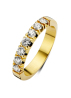 Diamond Point Groeibriljant eternity ring in 18 karat yellow gold, 0.49 ct.