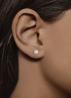 Diamond Point Groeibriljant stud earrings in 18 karat yellow gold, 0.54 ct.