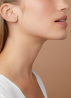 Diamond Point Witgouden solitair groeibriljant oorstekers, 0.04 ct. 0.04 ct diamant Groeibriljant