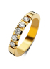 Diamond Point Groeibriljant Memoire Ring in 18K Gelbgold, 0.65 ct.