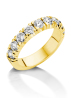 Diamond Point Groeibriljant Memoire Ring in 18K Gelbgold, 1.17 ct.
