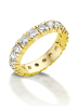 Diamond Point Groeibriljant eternity ring in 18 karat yellow gold, 0.90 ct.