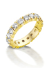 Diamond Point Groeibriljant eternity ring in 18 karat yellow gold, 1.30 ct.