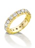 Diamond Point Groeibriljant eternity ring in 18 karat yellow gold, 0.91 ct.