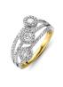 Diamond Point Gouden ring 1.13 ct diamant Caviar