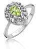 Diamond Point Witgouden ring, 0.51 ct peridoot, Since 1904