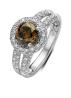 Diamond Point Witgouden ring, 1.37 ct diamant, Brown