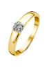 Diamond Point Groeibriljant Ring C-Fassung in 18K Gelbgold, 0.23 ct.