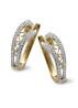 Diamond Point Since 1904 earrings in 14 karat yellow gold