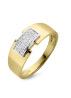 Diamond Point Caviar ring in 14 karat yellow and whitegold