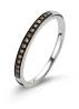 Diamond Point Witgouden ring, 0.10 ct diamant, Brown