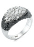 Diamond Point Black ring in 18 karat white gold