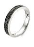 Diamond Point Black ring in 14 karat white gold