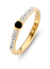 Diamond Point Geelgouden ring, 0.15 ct blauwe saffier, Colors