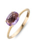 Diamond Point Roségouden ring, 1.00 ct paarse amethist, Colors