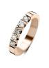Diamond Point Groeibriljant stackable ring in 18 karat rose gold, 0.50 ct.