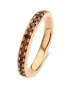 Diamond Point Roségouden ring, 0.41 ct diamant, Brown