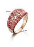 Diamond Point Roségouden ring 1.32 ct robijn Colors