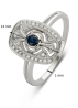 Diamond Point Witgouden ring 0.20 ct blauwe saffier Since 1904