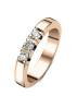 Diamond Point Groeibriljant stackable ring in 18 karat rose gold, 0.30 ct.