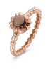 Diamond Point Roségouden ring, 0.61 ct rookkwarts, Colors