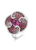 Diamond Point Witgouden ring, 1.80 ct roze toermalijn, Colors