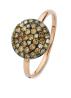 Diamond Point Brown ring in 14 karat rose gold
