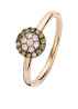 Diamond Point Brown Ring in 14K Roségold