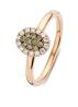 Diamond Point Roségouden ring, 0.25 ct diamant, Brown
