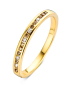 Diamond Point Brown Ring in 14K Gelbgold