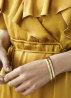 Diamond Point Bangle bracelet yellow gold M
