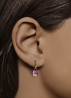 Diamond Point Little drops earrings in 14 karat rose gold