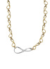 Diamond Point Infinity necklace in 14 multiple colors gold