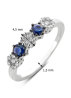 Diamond Point Witgouden ring 0.43 ct blauwe saffier Colors