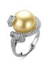 Diamond Point Pearl Ring