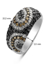 Diamond Point Black ring in 14 karat white gold