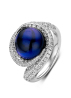 Diamond Point Beauties of the sea ring in 18 karat white gold