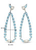 Diamond Point Witgouden oorsieraden, 0.70 ct diamant, Colors