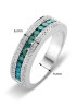 Diamond Point Witgouden ring, 0.70 ct diamant, Caviar