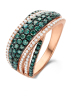 Diamond Point Roségouden ring 0.90 ct diamant Caviar