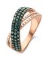 Diamond Point Roségouden ring 0.77 ct diamant Caviar