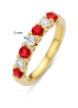 Diamond Point Majestic Ring in 14K Gelbgold